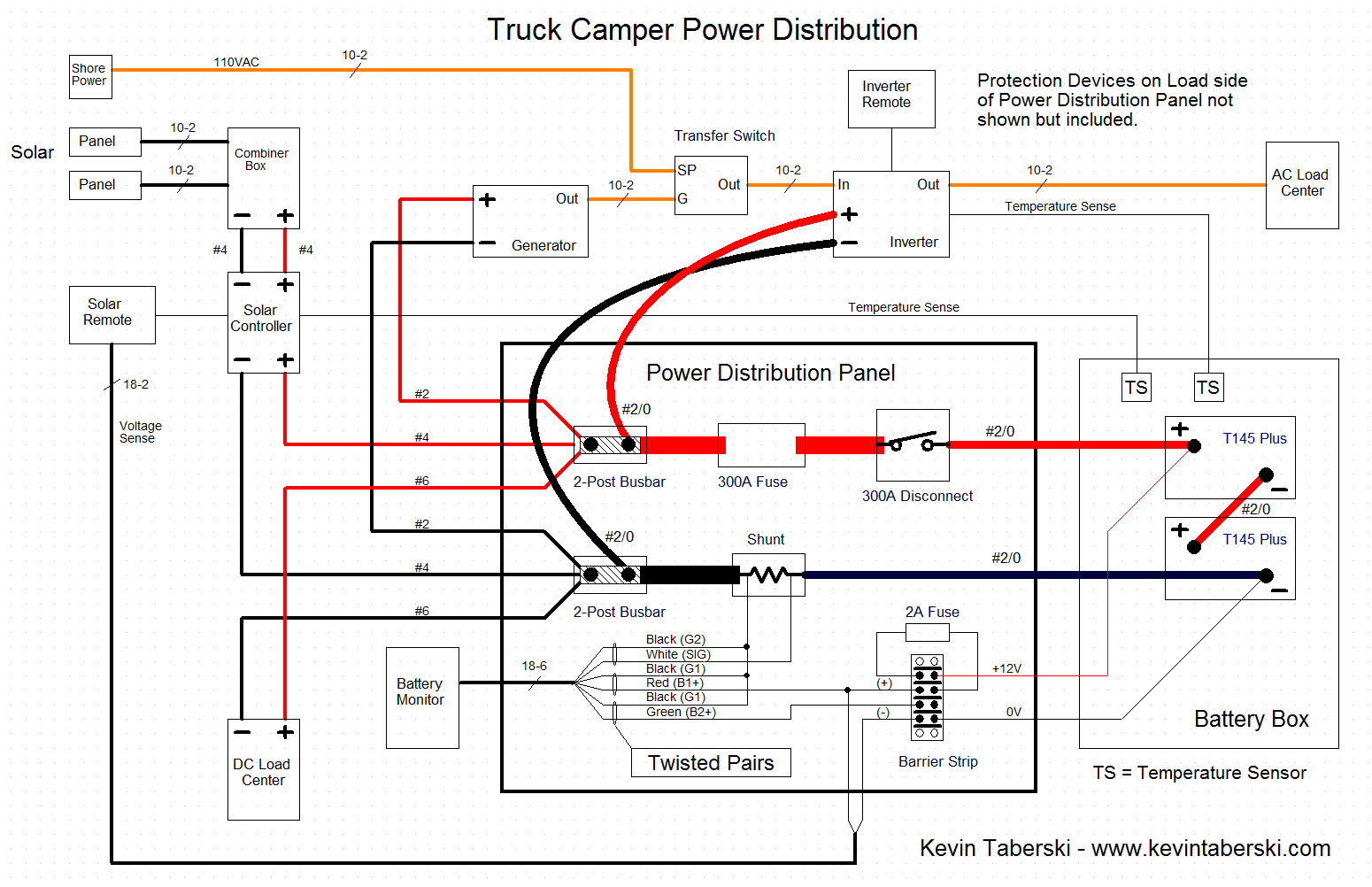 Truck Camper Inverter Kevin Taberski Rv Wiring Diagrams Online Power Distribution Diagram
